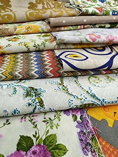 Tende Arredo Tessile Tessuto Cotone Stoffa patchwork Tessuti metraggio 20 Pezzi Scampoli Stoffe per cucito creativo al metro fai da te