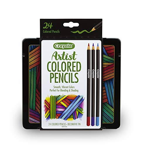 Crayola Artist Gel Colored Pencils Set, Professional Coloring Kit, Adult Coloring, 24Count, Gift, Assorted (Renewed)