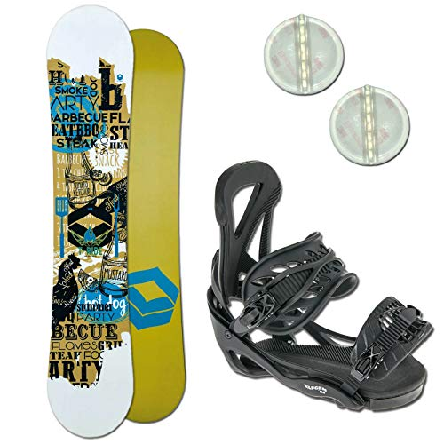 Ftwo T-Ride Kinder Snowboard Set ~ 130 cm + ELFGEN Team BINDUNG GR. M + PAD