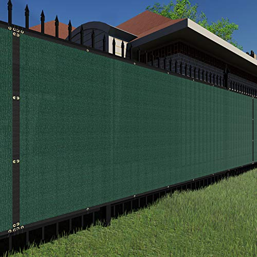 TANG Sunshades Depot Privacy Fence Screen Green 6' x 25' Heavy Duty Commercial Windscreen Residential Fence Netting Fence Cover 150 GSM 88% Privacy Blockage with Excellent Airflow 3 Years Warranty