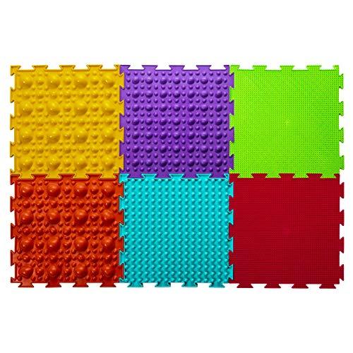 Ortoto EIN Satz orthopädischer Puzzle-Fußmatten mit 12 Kacheln für gesundheitsfördernde Übungen und Familienspiele mit Kindern.