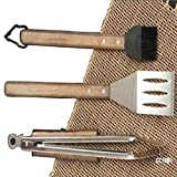 Charcoal Companion Kit de Utensilios para Barbacoa Over Pro Chef Espresso CC1000 (3 Piezas)