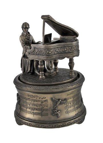 Bronzed Finish Mozart 'The Magic Flute' Spinning Music Box