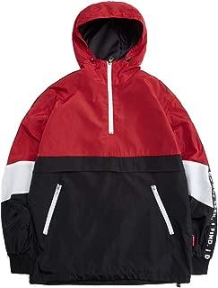 Mens Pullover Hooded Waterproof Lightweight Windbreaker Jackets