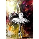 DIY 5D pintura de diamantes, Sunnay de imitación de cristal imágenes manualidades,Bailarina de ballet viene con taladro completo, Principiantes Kit,30 x 40 cm