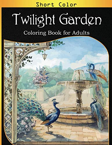 Twilight Garden Coloring Book for Adults: An Adult Garden Coloring Book with Flower Collection, Stress Relieving Flower Designs for Relaxation with Mad Black Gold Cover Edition