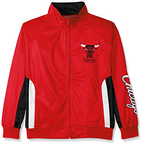Profile Big & Tall NBA Chicago Bulls Tricot Track Jacket with Logo Wordmark, Medium, Red