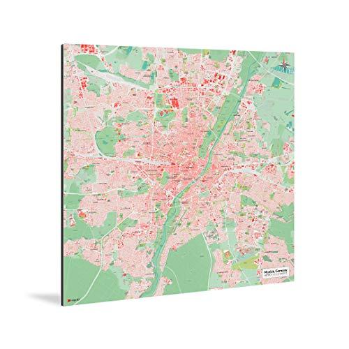 mapdid München-Stadtkarte Nani | Poster, Verschiedene Größen | Landkarte Weltkarte (70 x 70 cm)