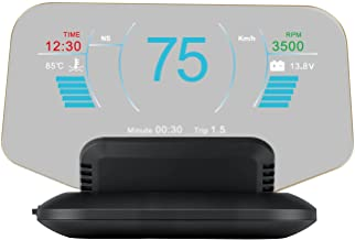 wiiyii OBD + GPS Head Up Display, 2 Modes Can be Freely Switched, Very Clear in The Daytime
