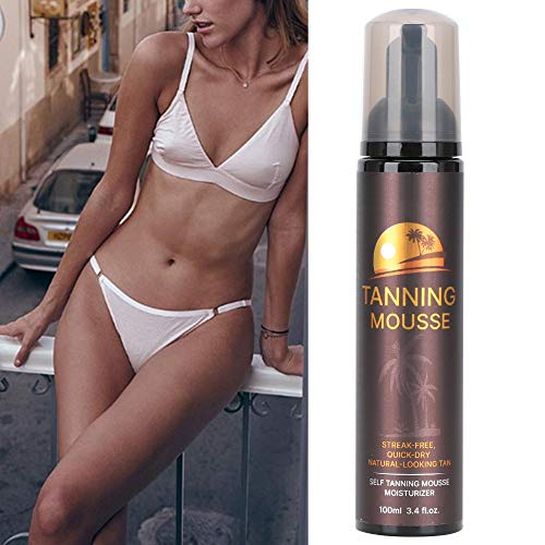 100ml Self Tanner Body Black Bronze Foam, Skincare Hydrating Self-Tanning Water Mousse, Long Lasting Sunless Tanning Mousse