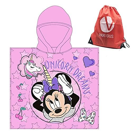 Toalla Infantil con Capucha de niño y niña Licencia Oficial Disney Minnie 8239