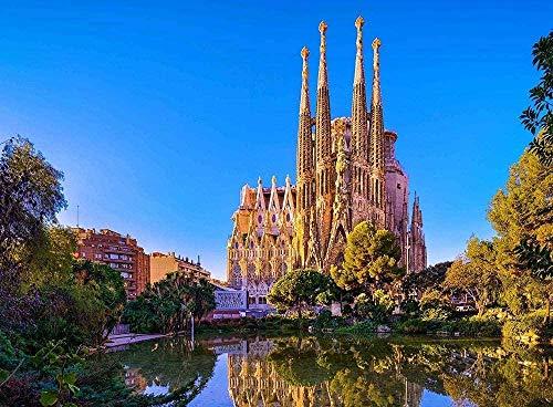 Puzzles Adult Jigsaw Puzzle La Sagrada Família Church Antoni Gaudí Barcelona Spain 1000 Pieces