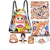 Himouto! Umaru-chan Merch, Backpack,Bag Phone Holder,Pins,Pillow Case,Bracelet, Necklace (A)