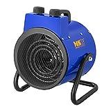 MSW Generador De Aire Caliente Eléctrico MSW-TTEH-3000 (3.000 W, Rango de Temperatura 0–85 °C, Flujo de Aire 185 m³/h)