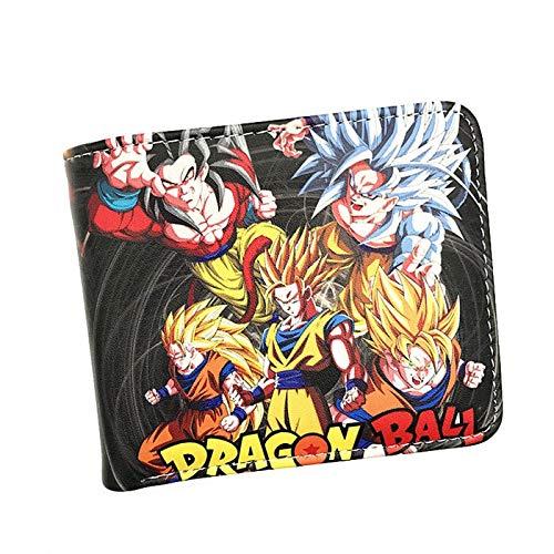 SHANYUR Teen Tasche PU Short Wallet Anime Dragon Ball Z Unisex Karikatur-Mappe for Junge Geldbörse mit Kartenhalter (Color : CP61503)