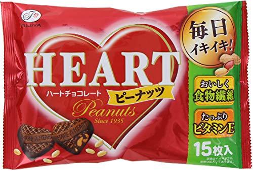 ハートチョコレート ピーナッツ 15枚入×15袋