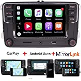 6,5' Autoradio de voiture Radio MIB2 RCD360 330 Carplay Bluetooth USB AUX SD RVC pour VW Golf Caddy...