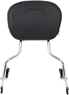 TJMOTO Chrome Detachable Backrest Sissy Bar For Harley Davidson Touring 2009-2018 Electra Glide Road Glide Road King Street Glide