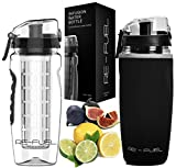 Re-Fuel 32oz Fruit Infuser Water Bottle - Large Capacity - Infused Water Bottle Bpa Free - Eco-Friendly - Leak Proof...