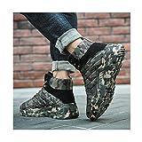 HaoLin Botas Militares Botines Cálidos Zapatillas de Deporte Zapatos de Trabajo,Green-40
