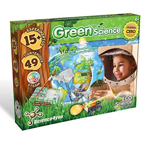 Science4you-Green Science – Juguete, Ecologico con 15 Experimentos y un Libro Educativo, Regalo Original para Niños +6 Anõs, Multicolor (80002418)