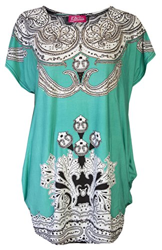 Dames-tuniek/zomerbovenstuk/strandt-shirt, zwembadkleding, avondmode van Love Lola®, eenheidsmaat.