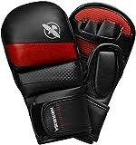 Hayabusa T3 7oz Hybrid MMA Gloves - Black/Red, Small