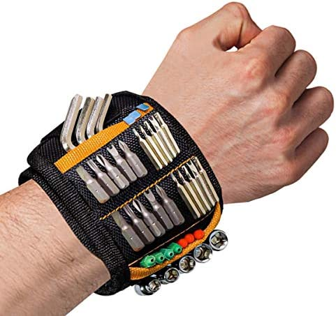 Magnetic Wristband Tool Belt with 15 Powerful Magnets for Holding Screws Nails Drill Bits Super product image