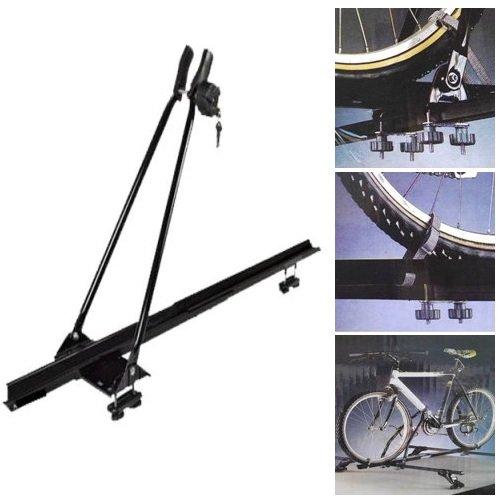 Dakdrager voor fietsen voor dakbagagedrager, universeel inzetbaar, voor fietsen met 6 riemen en universele stangen voor 1 fiets.