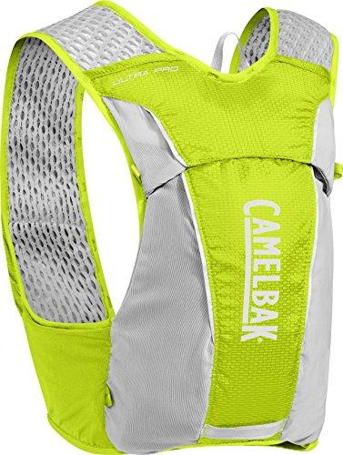CamelBak Ultra Pro Vest - Chaleco de hidratación (0,5 L), color lima y plateado