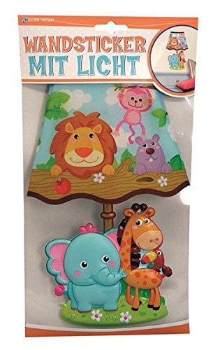 Trötsch Wandsticker mit Licht Dschungeltiere, Glitzer-Lampenschirm