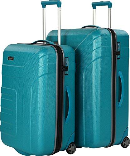 Travelite Set de bagage 'Vector' 2 pcs turquoise Koffer-Set, 73 cm, 181 liters, Türkis (Turquoise)
