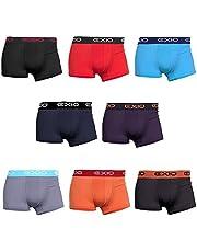EXIO 平角內褲 男士 4條裝 品牌 內褲 低腰 平角內褲 四角內褲