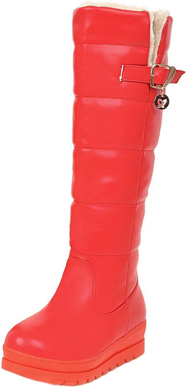 RizaBina Women Mid Calf Boots Pull on