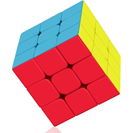 ROXENDA Cubo de Velocidad, Qiyi Warrior S 3x3 Speed Cube Stickerless - Giro Fácil y Juego Suave & Sólido Duradero ABS, se Vuelve Más Rápido Que el Original (T2)