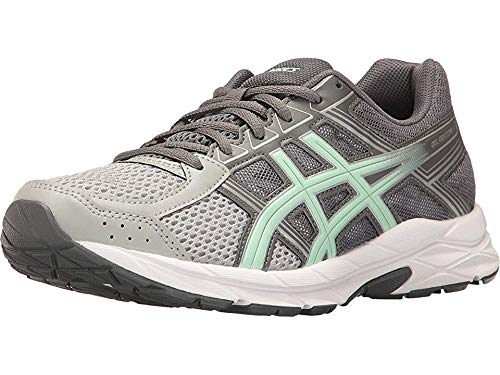 ASICS Women's Gel-Contend 4 Running Shoe, Mid Grey/Glacier Sea/Silver, 4 UK