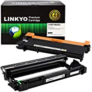 LINKYO Compatible Toner Cartridge and Drum Set Replacement for Brother TN660 TN-660 DR630 DR-630 (1 Toner Cartridge, 1 Drum Unit)