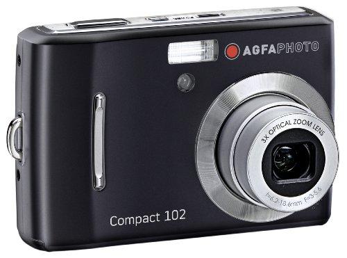 AgfaPhoto Compact 102 Digitalkamera (12 Megapixel, 3-Fach Opt. Zoom, 6,9 cm (2,7 Zoll) Display) schwarz