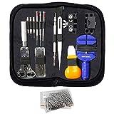 MMOBIEL 144 PCS Professional Watch Repair Tool Kit Incl Spring Pin Bars