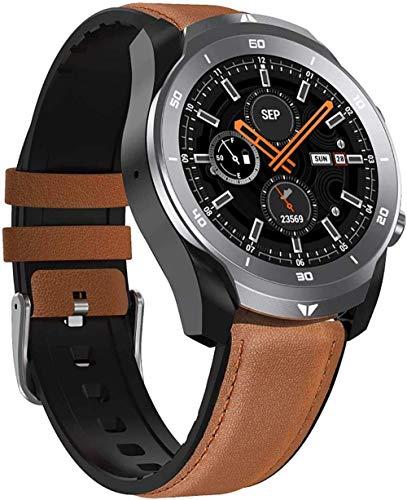 JIAJBG Smart Watch, Fitness Tracker con Monitor de Ritmo Cardíaco Ip67 Actividad Impermeable Podómetro, Monitor de Suspensión Mensaje Llamada Podómetro Smart Pulsera-Brown clásico /