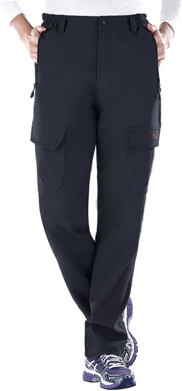 Nonwe Womens Outdoor Water-Resistant Warmth Fleece Lined Climbing Ski Snow Pants