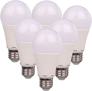12V LED Bulb E26 7W 700Lm Low Voltage Lights AC11-18V/DC 12-24V E27 A19 lamp - 60 Watt Halogen Bulb Equivalent- 12 Volt Battery Power System Interior Off Grid Solar Lighting- 6 Pack (3000K Warm White)