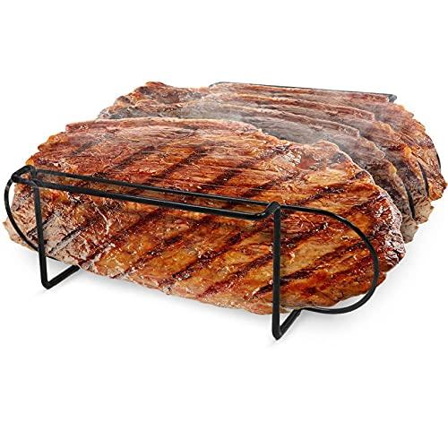 YHFJB Racks BBQ Rib Rack durevole per affumicatore, barbecue a carbonella, antiaderente, grill, pollo e tacchino
