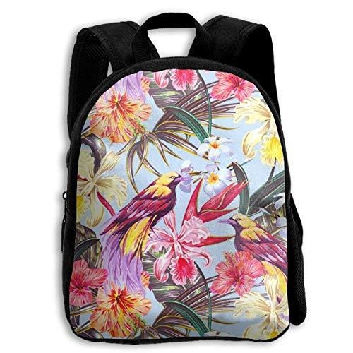 jenny-shop Exotic Flowers Bird Toddler Backpack 13 'Kids School Backpacks for Boys and Girls