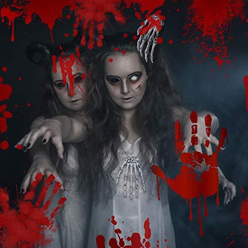 Huayue 4 Pezzi Mani di Scheletro, Oggetti di Scena di Halloween Osso di Mano Umano Falso per Decorazioni per Halloween Puntelli Horror Festa di Zombi- Plastica