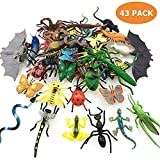 GuassLee Paquete de 43 insectos falsos mini juguetes realistas para niños