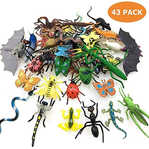 GuassLee 43er Pack Fake Bugs Mini Realistisches Insektenspielzeug für Kinder