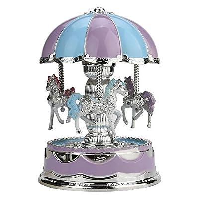FORYULIK Carousel Music Box Rotating Decoration...