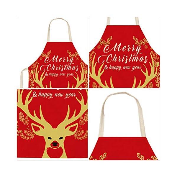 VALICLUD Reindeer Christmas Apron