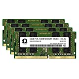Omega 64GB (4x16GB) Gaming Laptop Memory Upgrade DDR4 2666MHz PC4-21300 SODIMM 1Rx8 CL19 1.2v Notebook DRAM RAM